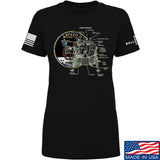22plinkster Ladies Apollo Lunar Tech T-Shirt T-Shirts SMALL / Black by Ballistic Ink - Made in America USA