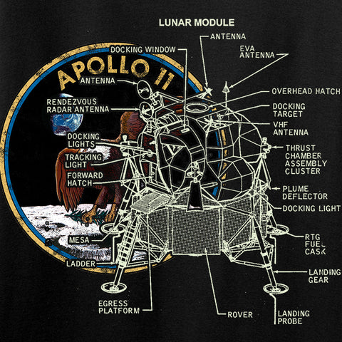 22plinkster Ladies Apollo Lunar Tech T-Shirt T-Shirts [variant_title] by Ballistic Ink - Made in America USA