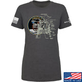 22plinkster Ladies Apollo Lunar Tech T-Shirt T-Shirts SMALL / Charcoal by Ballistic Ink - Made in America USA