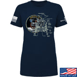 22plinkster Ladies Apollo Lunar Tech T-Shirt T-Shirts SMALL / Navy by Ballistic Ink - Made in America USA