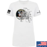 22plinkster Ladies Apollo Lunar Tech T-Shirt T-Shirts SMALL / White by Ballistic Ink - Made in America USA