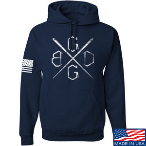 Black Diamond Guns and Gear BDGG Cross Hoodie Hoodies Small / Charcoal by Ballistic Ink - Made in America USA