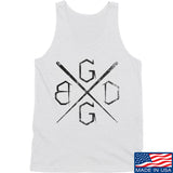 Black Diamond Guns and Gear BDGG Cross Template Tank Tanks SMALL / White by Ballistic Ink - Made in America USA