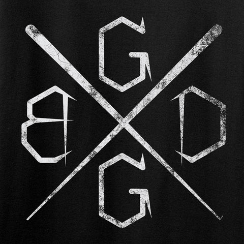 Black Diamond Guns and Gear BDGG Cross Template T-Shirt T-Shirts [variant_title] by Ballistic Ink - Made in America USA