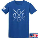 Black Diamond Guns and Gear BDGG Cross Template T-Shirt T-Shirts Small / Blue by Ballistic Ink - Made in America USA