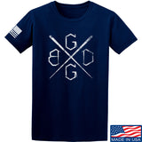 Black Diamond Guns and Gear BDGG Cross Template T-Shirt T-Shirts Small / Navy by Ballistic Ink - Made in America USA