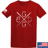 Black Diamond Guns and Gear BDGG Cross Template T-Shirt T-Shirts Small / Red by Ballistic Ink - Made in America USA