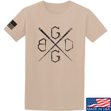Black Diamond Guns and Gear BDGG Cross Template T-Shirt T-Shirts Small / Sand by Ballistic Ink - Made in America USA