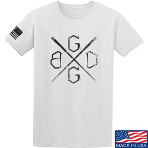 Black Diamond Guns and Gear BDGG Cross Template T-Shirt T-Shirts Small / Black by Ballistic Ink - Made in America USA