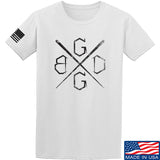 Black Diamond Guns and Gear BDGG Cross Template T-Shirt T-Shirts Small / White by Ballistic Ink - Made in America USA