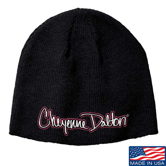 Cheyenne Dalton Cheyenne Dalton Logo Beanie Headwear Black by Ballistic Ink - Made in America USA