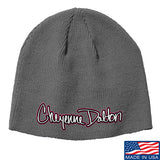 Cheyenne Dalton Cheyenne Dalton Logo Beanie Headwear Grey by Ballistic Ink - Made in America USA