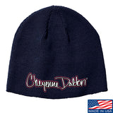 Cheyenne Dalton Cheyenne Dalton Logo Beanie Headwear Navy by Ballistic Ink - Made in America USA