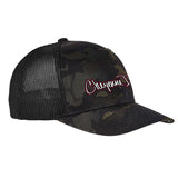 Cheyenne Dalton Cheyenne Dalton Logo Flexfit® Multicam® Trucker Mesh Cap Headwear Black Multicam by Ballistic Ink - Made in America USA
