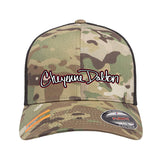 Cheyenne Dalton Cheyenne Dalton Logo Flexfit® Multicam® Trucker Mesh Cap Headwear [variant_title] by Ballistic Ink - Made in America USA