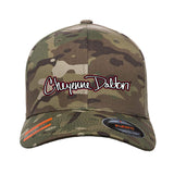 Cheyenne Dalton Cheyenne Dalton Logo Flexfit® Multicam® Trucker Cap Headwear Multicam S/M by Ballistic Ink - Made in America USA