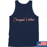 Cheyenne Dalton Cheyenne Dalton Logo Tank Tanks SMALL / Navy by Ballistic Ink - Made in America USA