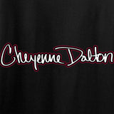 Cheyenne Dalton Ladies Cheyenne Dalton Logo V-Neck T-Shirts, V-Neck [variant_title] by Ballistic Ink - Made in America USA
