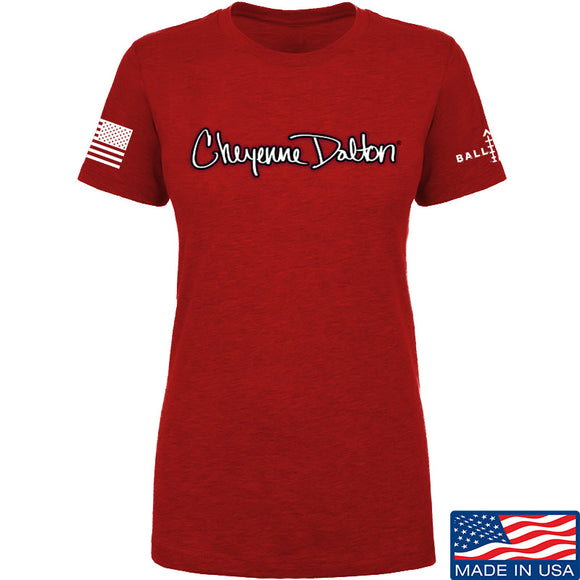 Cheyenne Dalton Ladies Cheyenne Dalton Logo T-Shirt T-Shirts SMALL / Red by Ballistic Ink - Made in America USA