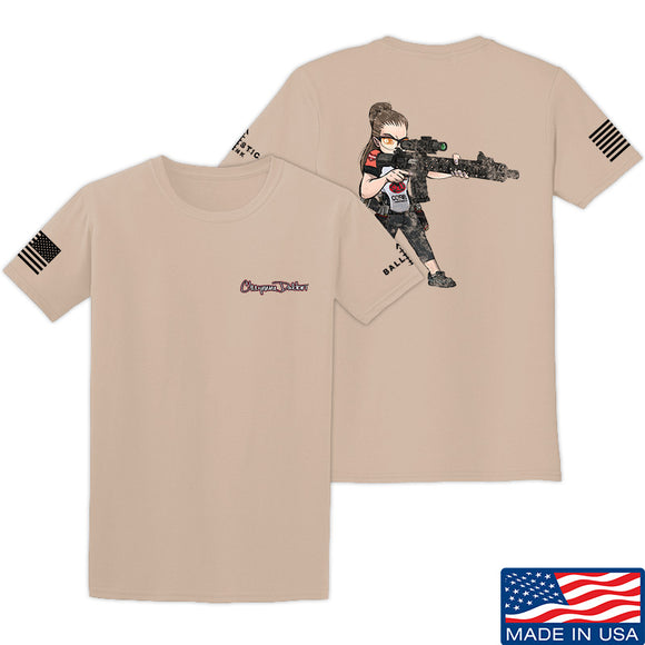 Cheyenne Dalton 2-Sided Cheyenne Dalton Morale T-Shirt T-Shirts Small / Sand by Ballistic Ink - Made in America USA