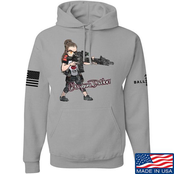 Cheyenne Dalton Cheyenne Dalton Morale Hoodie Hoodies Small / Light Grey by Ballistic Ink - Made in America USA
