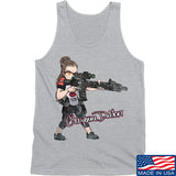 Cheyenne Dalton Cheyenne Dalton Morale Logo Tank Tanks SMALL / Light Grey by Ballistic Ink - Made in America USA