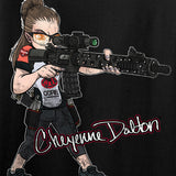 Cheyenne Dalton Ladies Cheyenne Dalton Morale V-Neck T-Shirts, V-Neck [variant_title] by Ballistic Ink - Made in America USA