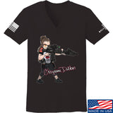 Cheyenne Dalton Ladies Cheyenne Dalton Morale V-Neck T-Shirts, V-Neck SMALL / Black by Ballistic Ink - Made in America USA