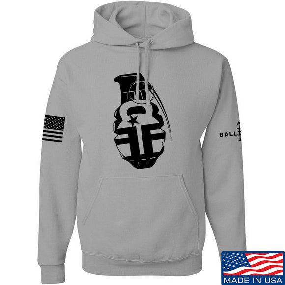 Fit'n Fire AK Grenade Hoodie Hoodies Small / Light Grey by Ballistic Ink - Made in America USA