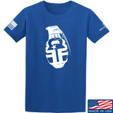 Fit'n Fire AK Grenade T-Shirt T-Shirts Small / Blue by Ballistic Ink - Made in America USA