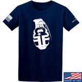 Fit'n Fire AK Grenade T-Shirt T-Shirts Small / Navy by Ballistic Ink - Made in America USA