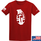 Fit'n Fire AK Grenade T-Shirt T-Shirts Small / Red by Ballistic Ink - Made in America USA