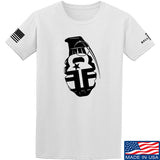 Fit'n Fire AK Grenade T-Shirt T-Shirts Small / White by Ballistic Ink - Made in America USA