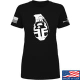 Fit'n Fire Ladies AK Grenade T-Shirt T-Shirts SMALL / Black by Ballistic Ink - Made in America USA