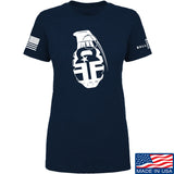 Fit'n Fire Ladies AK Grenade T-Shirt T-Shirts SMALL / Navy by Ballistic Ink - Made in America USA