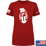 Fit'n Fire Ladies AK Grenade T-Shirt T-Shirts SMALL / Red by Ballistic Ink - Made in America USA