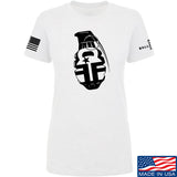 Fit'n Fire Ladies AK Grenade T-Shirt T-Shirts SMALL / White by Ballistic Ink - Made in America USA