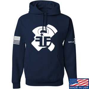 Fit'n Fire AK Lug Hoodie Hoodies Small / Navy by Ballistic Ink - Made in America USA