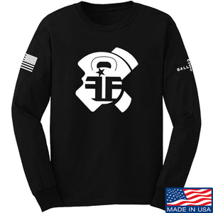 Fit'n Fire AK Lug Long Sleeve T-Shirt Long Sleeve Small / Black by Ballistic Ink - Made in America USA