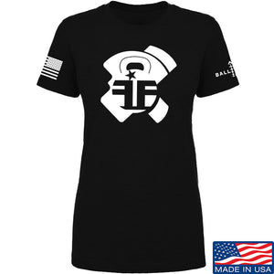 Fit'n Fire Ladies AK Lug T-Shirt T-Shirts SMALL / Black by Ballistic Ink - Made in America USA