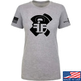 Fit'n Fire Ladies AK Lug T-Shirt T-Shirts SMALL / Light Grey by Ballistic Ink - Made in America USA