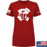 Fit'n Fire Ladies AK Lug T-Shirt T-Shirts SMALL / Red by Ballistic Ink - Made in America USA