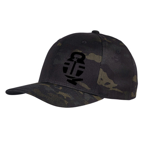 Fit'n Fire Fit'n Fire Bell and Shells Logo Flexfit® Multicam® Trucker Cap Headwear [variant_title] by Ballistic Ink - Made in America USA