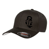 Fit'n Fire Fit'n Fire Bell and Shells Flexfit® Cap Headwear S/M / Black by Ballistic Ink - Made in America USA