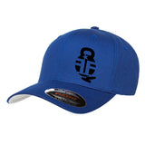 Fit'n Fire Fit'n Fire Bell and Shells Flexfit® Cap Headwear S/M / Blue by Ballistic Ink - Made in America USA