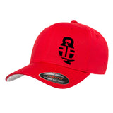 Fit'n Fire Fit'n Fire Bell and Shells Flexfit® Cap Headwear S/M / Red by Ballistic Ink - Made in America USA