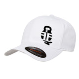 Fit'n Fire Fit'n Fire Bell and Shells Flexfit® Cap Headwear S/M / White by Ballistic Ink - Made in America USA