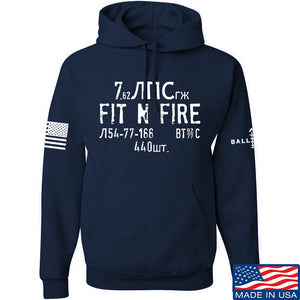 Fit'n Fire Spam Can Hoodie Hoodies Small / Black by Ballistic Ink - Made in America USA