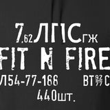 Fit'n Fire Spam Can Hoodie Hoodies [variant_title] by Ballistic Ink - Made in America USA