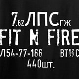 Fit'n Fire Spam Can Long Sleeve T-Shirt Long Sleeve [variant_title] by Ballistic Ink - Made in America USA